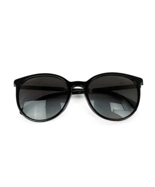 Chanel Black Plastic  W/Dust Bag Sunglasses 1
