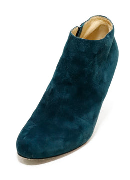 Christian Louboutin Blue Teal Suede Booties 1