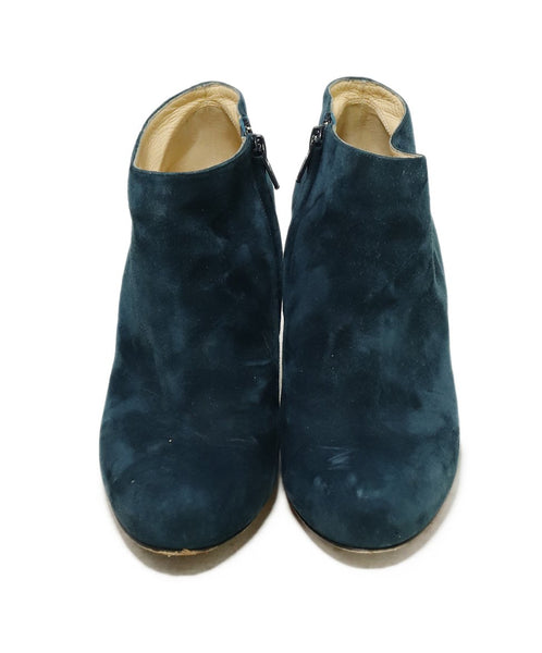 Christian Louboutin Blue Teal Suede Booties 4