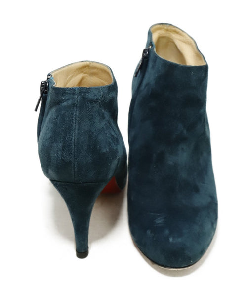 Christian Louboutin Blue Teal Suede Booties 3