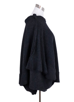 Comme Des Garcons Grey Wool Nylon Skirt 2
