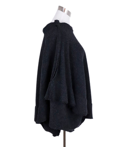 Comme Des Garcons Grey Wool Nylon Skirt 1