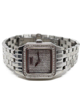 Croton Stainless Steel Diamond Watch