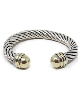 David Yurman Sterling Silver 14 K Gold Bangle 1