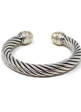 David Yurman Sterling Silver 14 K Gold Bangle 2