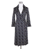 Diane Von Furstenburg Black White Purple Silk Wrap Dress 1