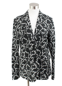 Etro Black and White Print Jacket 1