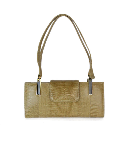 fendi neutral lizard shoulder bag 1