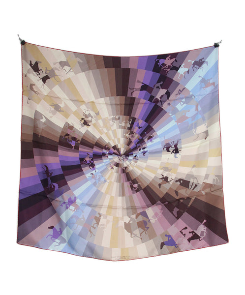 hermes brown purple Galop Chromatique scarf 5