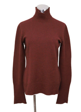 Hermes Red Cashmere Turtleneck Size 6