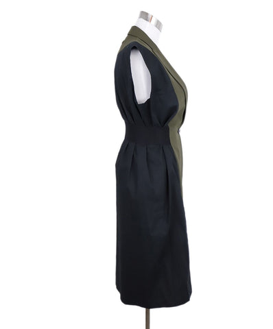 Jean Paul Gaultier Black Olive Wool Cotton Long Vest 1