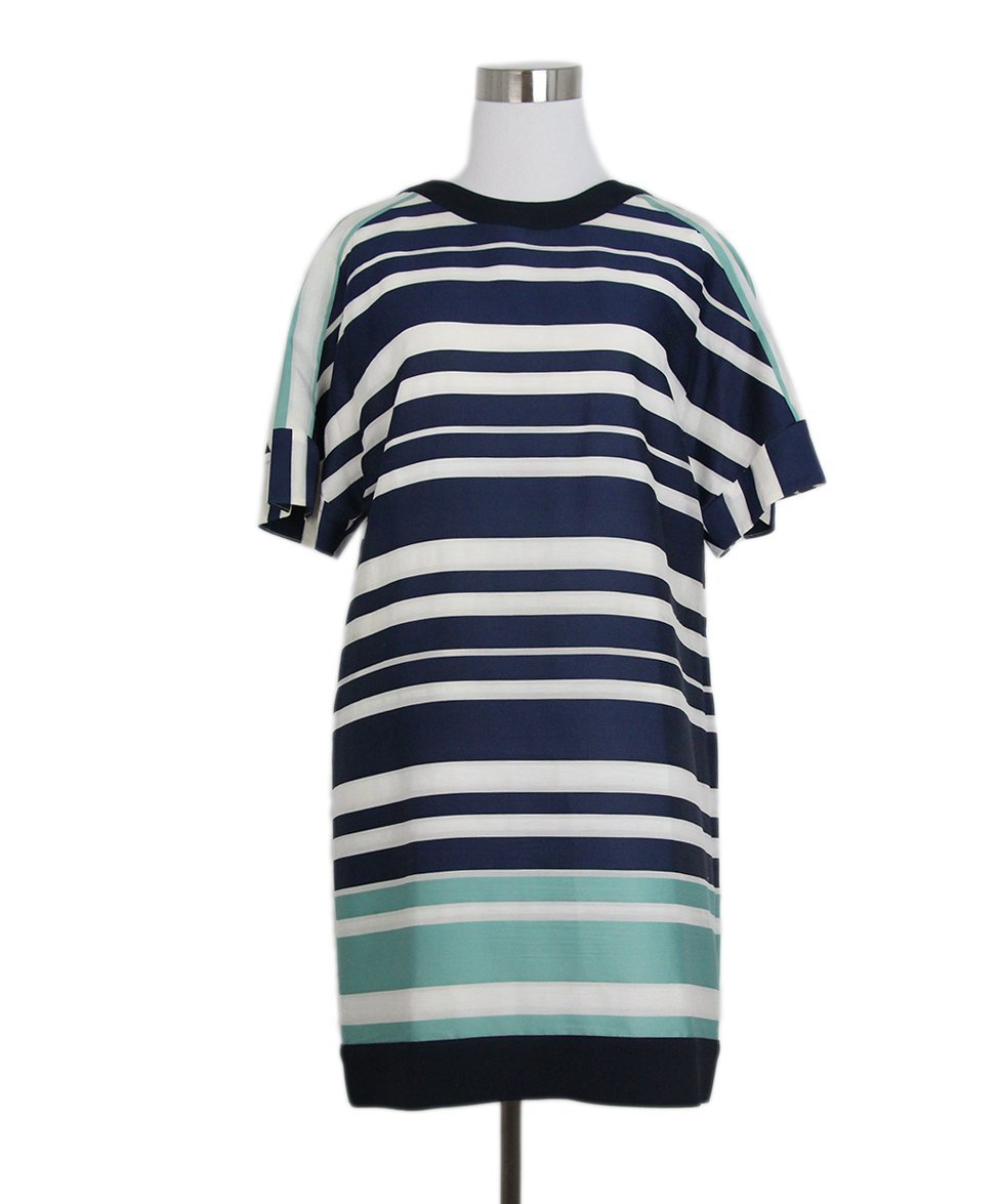 maiyet navy white stripes dress 1