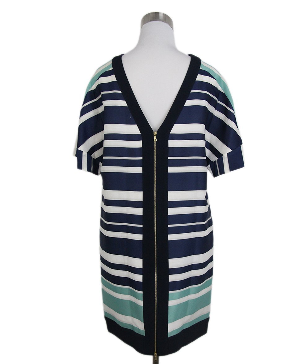 maiyet navy white stripes dress 3