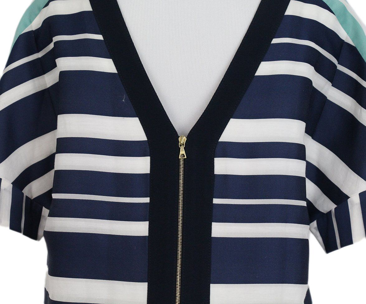 maiyet navy white stripes dress 5