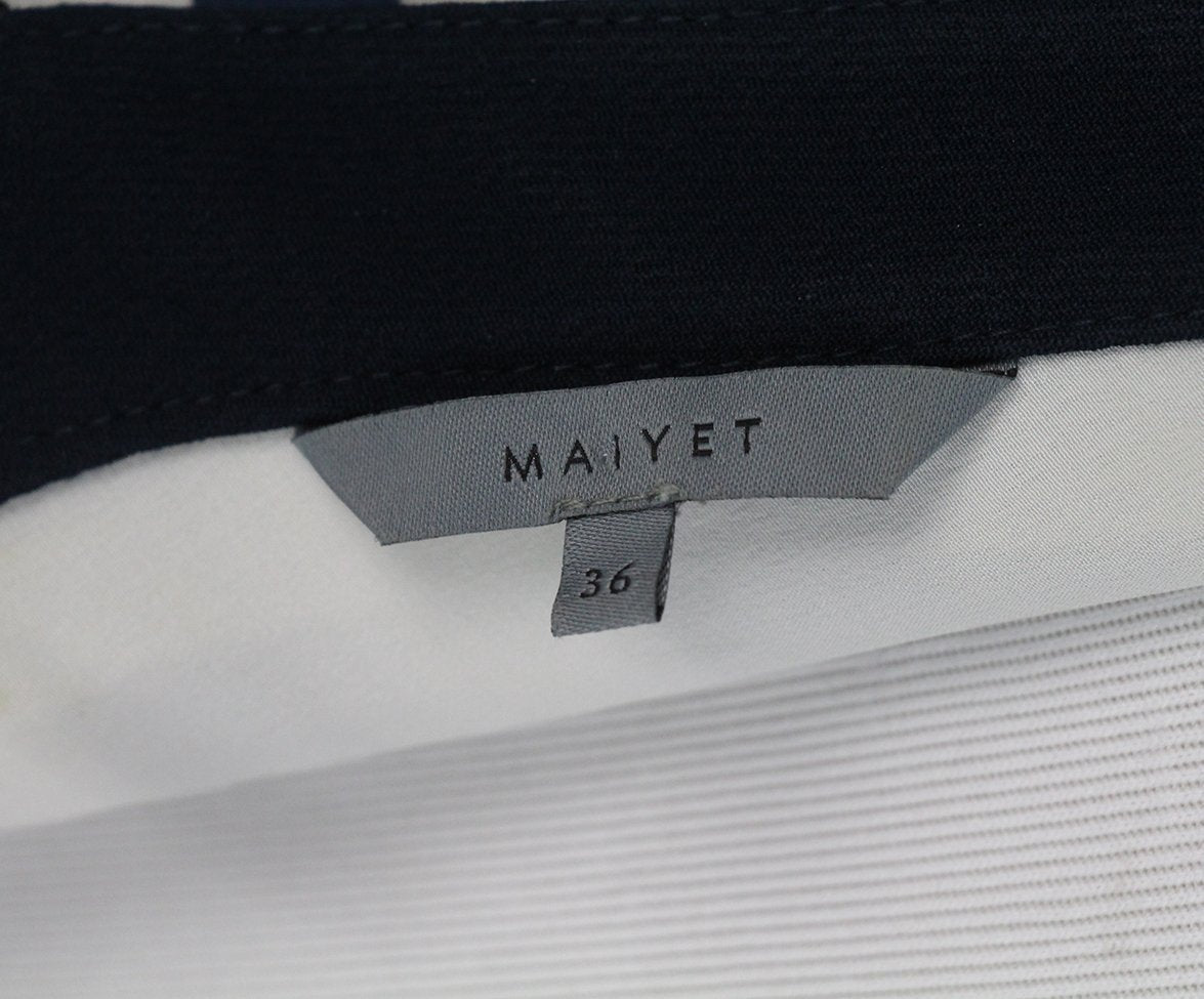 maiyet navy white stripes dress 4