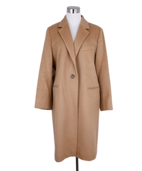 Max Mara Neutral Tan Camel Hair Coat 1