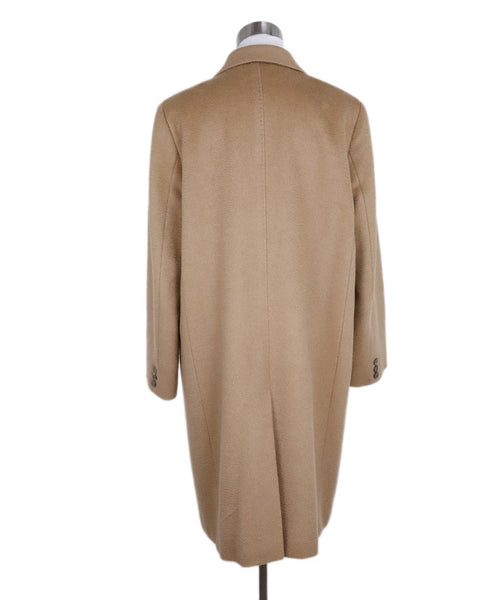 Max Mara Neutral Tan Camel Hair Coat 3