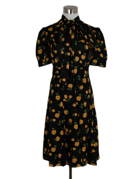 Michael Kors Black Yellow Floral Dress 1