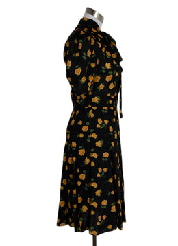 Michael Kors Black Yellow Floral Dress 2