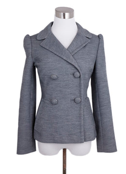 Prada Grey Wool Jacket 1