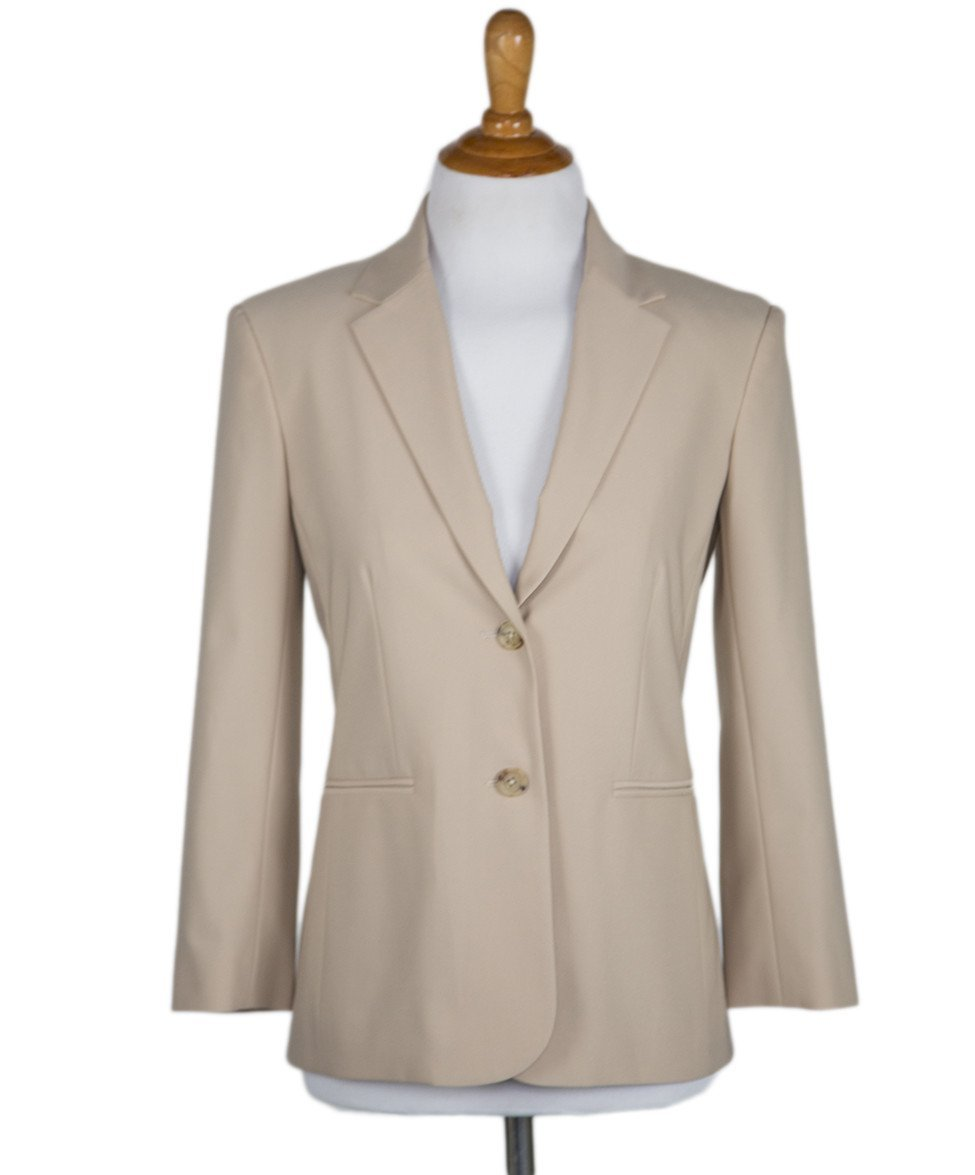The Row Beige Rayon Jacket Sz 0 - Michael's Consignment NYC  - 1
