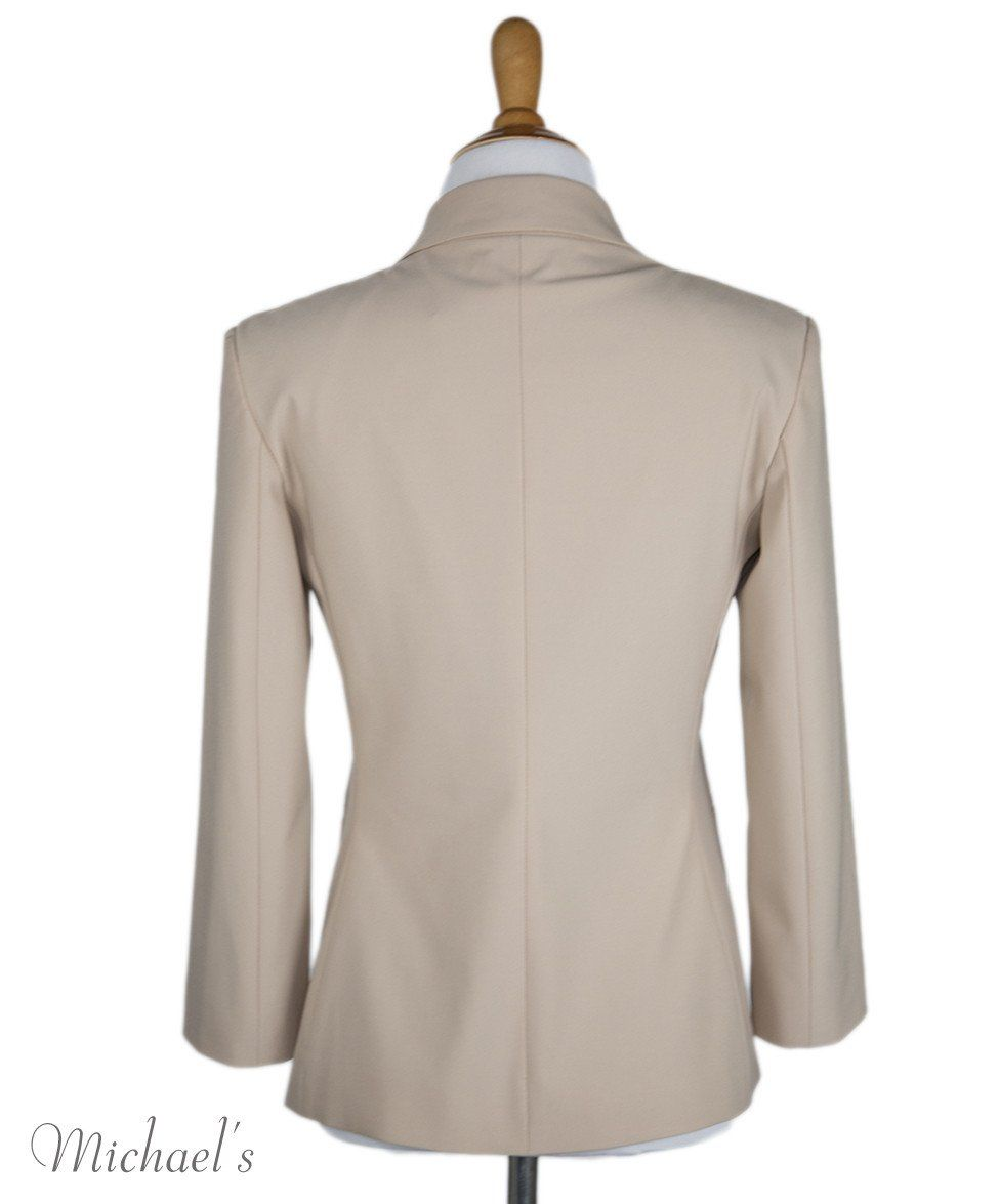 The Row Beige Rayon Jacket Sz 0 - Michael's Consignment NYC  - 3