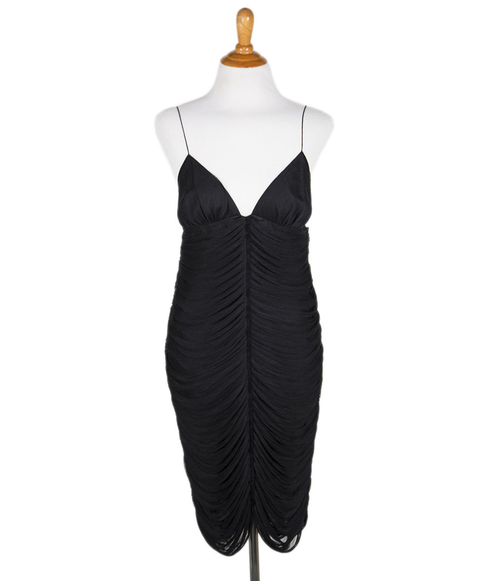 The Row Black Gathered Sleeveless Dress Sz 4 - Michael's Consignment NYC  - 1
