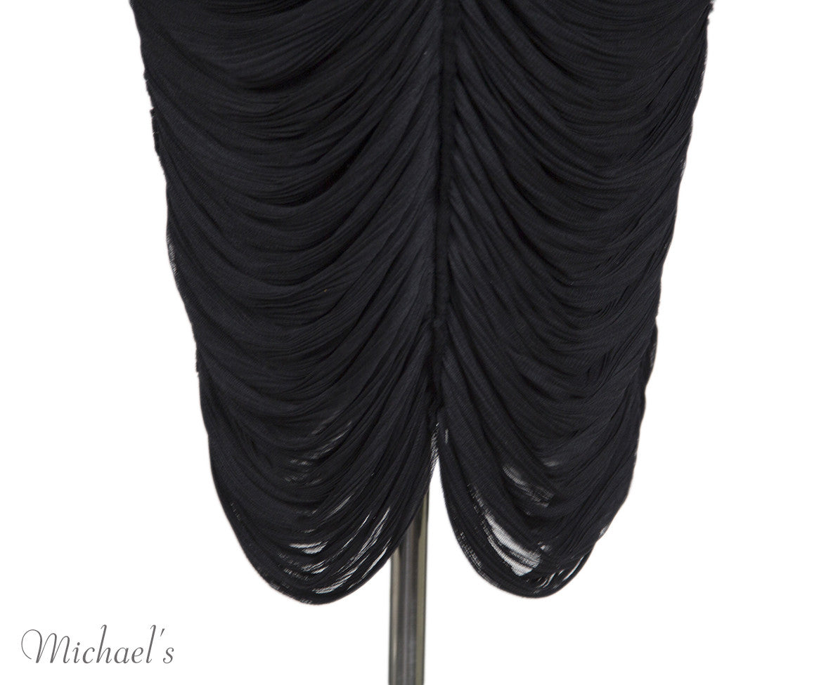 The Row Black Gathered Sleeveless Dress Sz 4 - Michael's Consignment NYC  - 6
