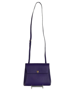 Valextra Purple Leather Handbag 1