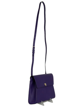 Valextra Purple Leather Handbag 2