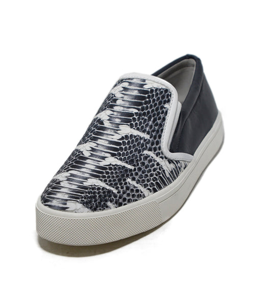 Vince Snake Skin Print Leather Sneakers 1