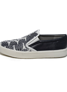 Vince Snake Skin Print Leather Sneakers 2