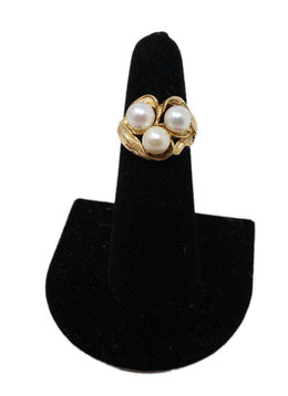 Yellow 14 K Gold Pearl Ring 1