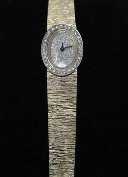 Watch Yellow 14 K Gold Diamond Vintage Jewelry