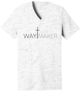 WayMaker White Marble V-Neck