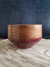 Load image into Gallery viewer, Walnut and Purple Heart Bowl - Davis Wood Essentials