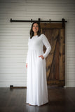 All In White Maxi Dress