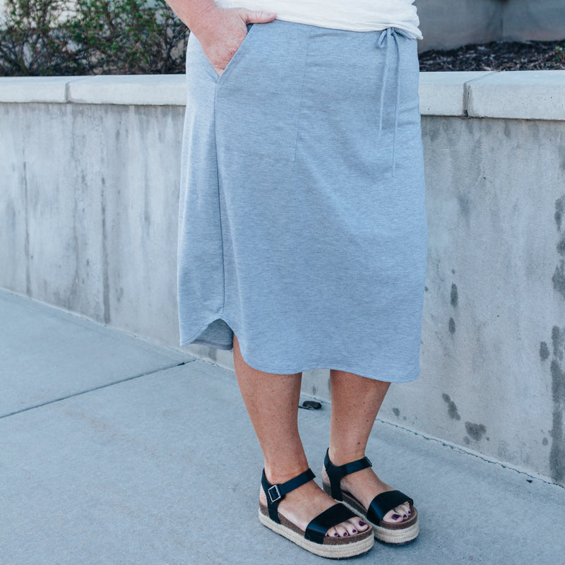Madison Skirt in Heather Grey