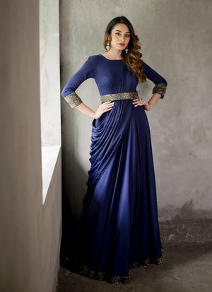 Mid Night Blue Gown