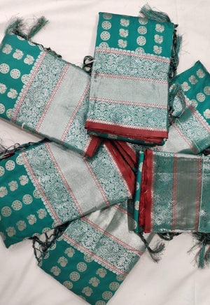 Teal Soft Silk Saree