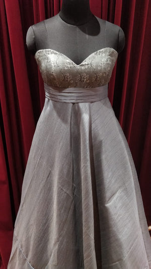 Grey Strapless Gown