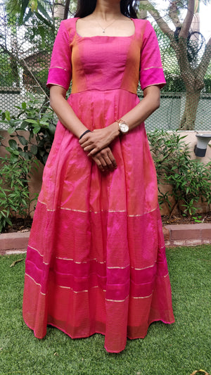 Pink floor length dress