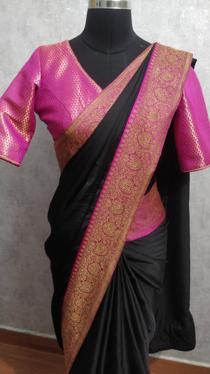 Black  and Pink Saree