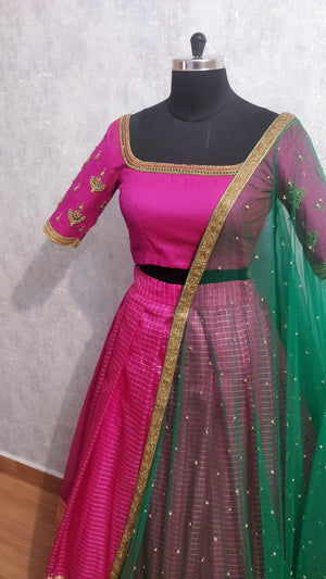 Pink Traditional Lehanga Set