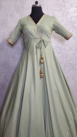 Pastel Green Long gown