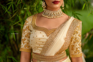 Golden and mustard Half saree