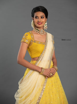 Yellow Lehanga Set