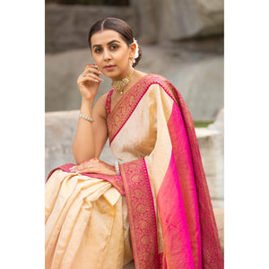Pure Tissue Saree with Pure Banaras Border