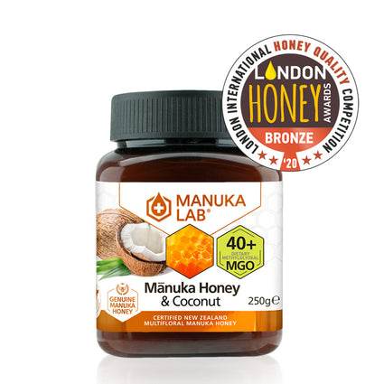 Mānuka Honey & Coconut 40+ MGO 250G - Manuka Lab