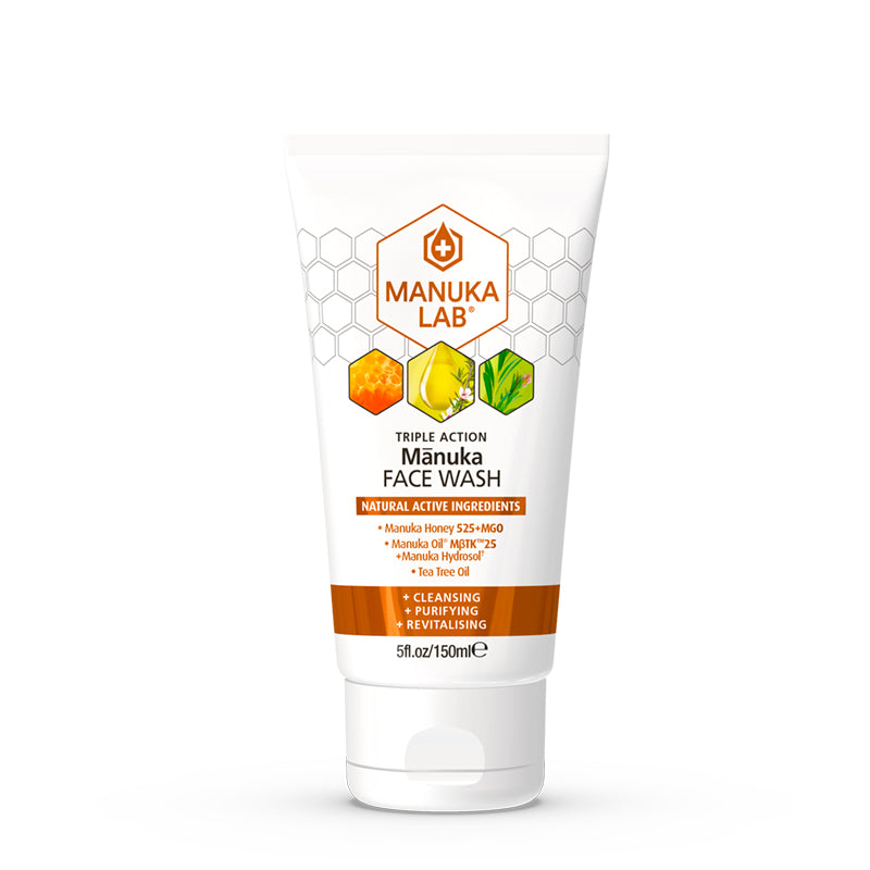 Triple Action Face Wash - Manuka Lab UK